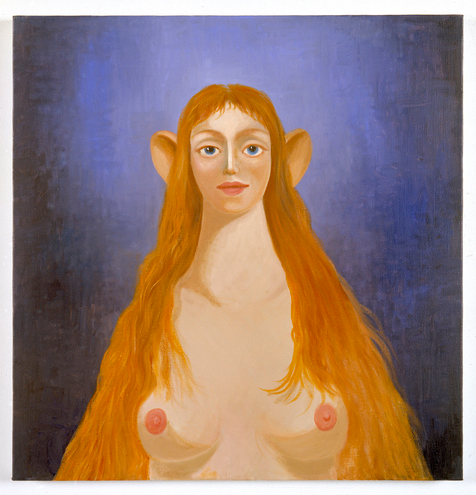 George Condo, Mary Magdalene, 2009. Oil on canvas, 27 x 26 in (68.6 x 66 cm). Collection Richard and Hazel Collins. © George Condo 2010